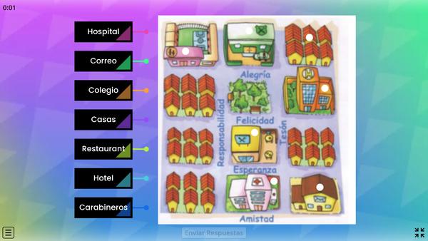 Identificando símbolos, en el plano de la ciudad