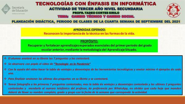 Cambio técnico y Cambio social.