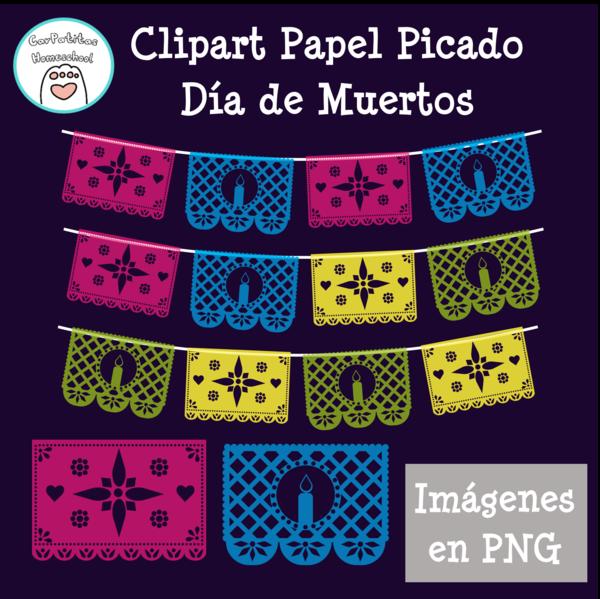Clipart Papel Picado | Día de Muertos