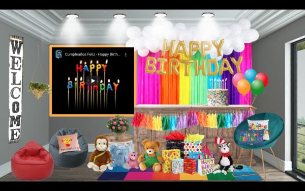 Aula virtual de cumpleaños