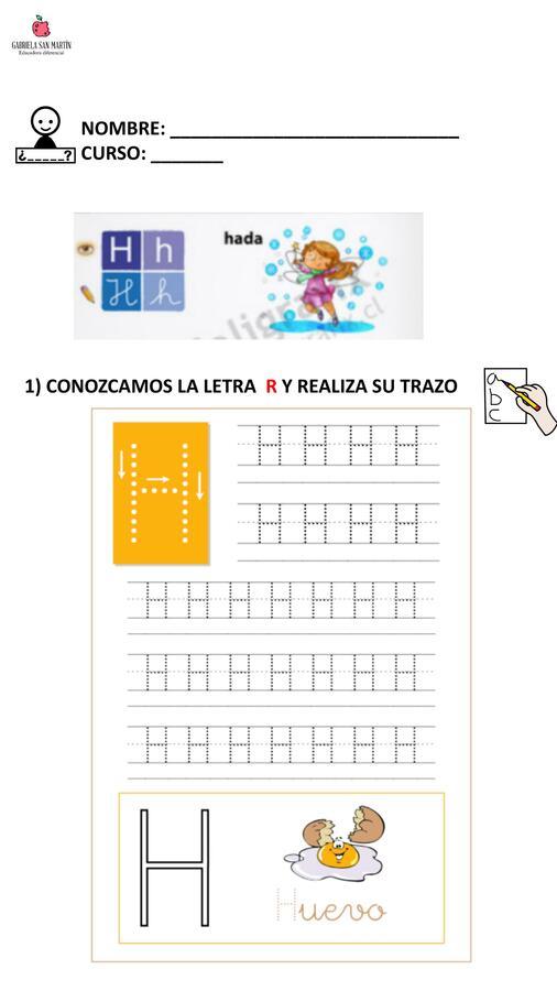 Ficha de trabajo - Consonante H