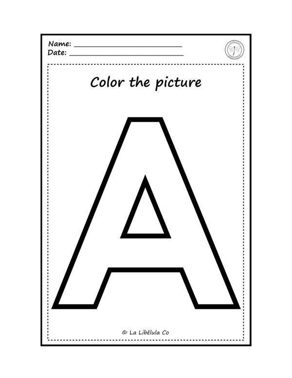 Worksheets Coloring The Vowels Fichas para colorear Las Vocales
