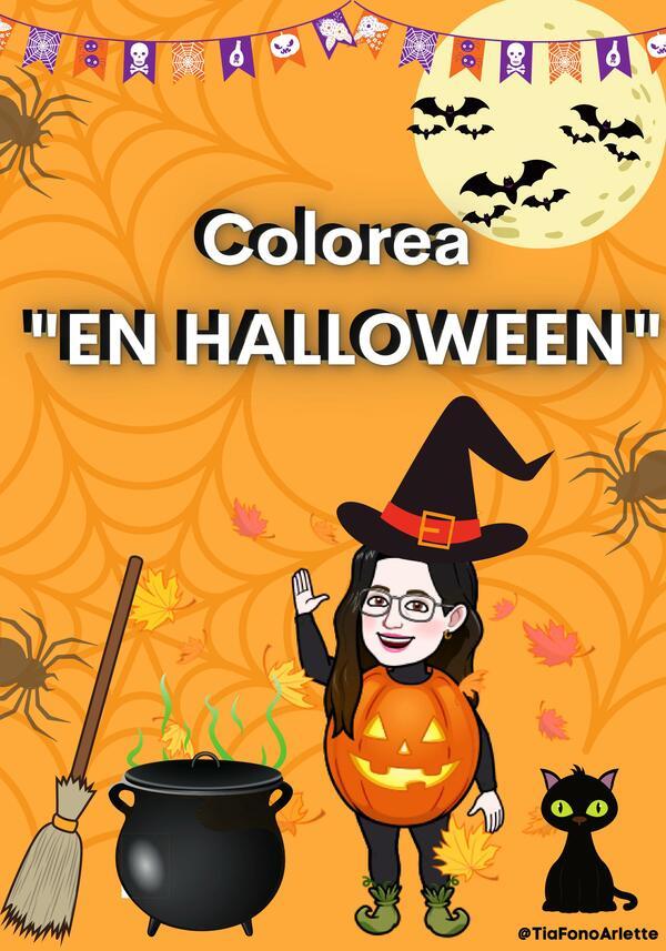 """""""Colorea en Halloween"""""""